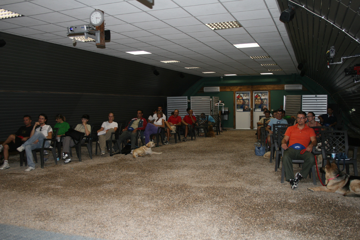 Aula interna dove si tiene il corso educatori